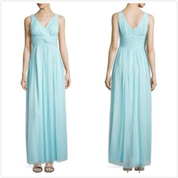 Donna Morgan Dresses & Skirts - NWT DONNA MORGAN BLUE SILK & CHIFFON GOWN Sz 18W